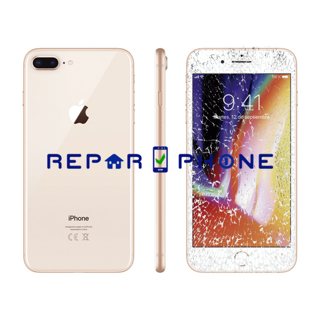"reparacion iphone 8 plus en Madrid ""pantalla"""